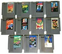 NES Nintendo Lot of 11 Games - Cleaned & Tested Dragon Warrior Mario Bros Jaws
