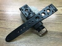 20mm watch strap Racing Watch band Rally watch strap leather FREE SHIPPING