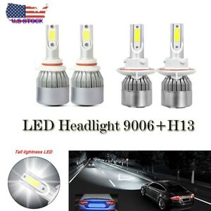 4x H13+9006 LED Headlights Bulbs For Dodge Durango 2004-2009 6000K White US hb