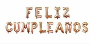 "Feliz Cumpleaños 16"" Foil Balloons Spanish Happy Birthday Cumpleanos Party"