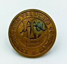 VINTAGE LANARKSHIRE CORPORATION TRAMWAYS UNIFORM BUTTON 26MM