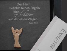 Taufgeschenk Schiefer Relief mit Schutzengel Bronze und Spruch Psalm 91,11
