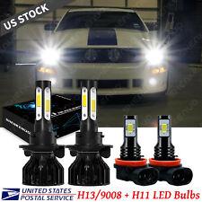 For Ford Mustang Gt 2005 2012 Led Headlight Hilow Beam Fog Light Bulbs 6000k Fits Mustang