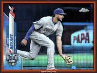 2020 Topps Chrome Update Kris Bryant X-FRACTOR /99 U-62 Chicago Cubs