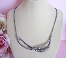 Alexis Bittar Miss Havisham Crystal Encrusted Twined Necklace New
