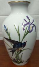 """1980 Franklin MEADOWLAND Limited Edition Porcelain Basil Ede 11 1/2"""" BIRD VASE"""