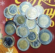 WORLD BI-METALLIC COIN LOT OF 24 COINS-FREE USA SHIPPING
