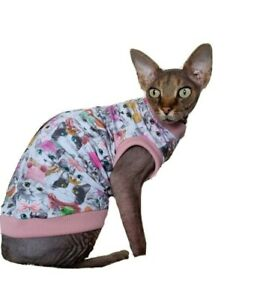 sizes CATS vest for a Sphynx cat, SPHYNX cat clothes, cat top, Hotsphynx, cat