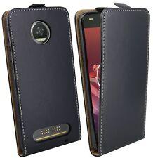 Borsa Flip Astuccio Per Cellulare Protezione Guscio protezione per Lenovo MOTO z2 Force in nero