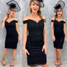 Beautiful BLACK Colour Lace Dress For Party Formal Wear Size 14