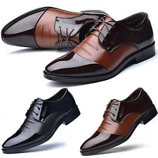 Men Pointed Toe Cocktail Party Formal Wedding Work Office Dress Shoes Lace Up