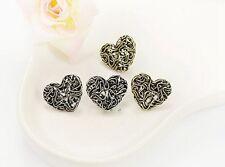 Hollow Heart Stud Earrings For Women Personalized Fashion Lady jewelry bronze