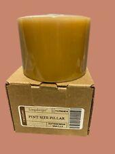 Longaberger Pint Size Pillar Candle Buttercream Vanilla New