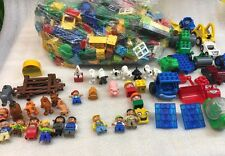 Lot of Assorted Loose LEGO Duplo Bricks, Pieces, and Parts People Animals 15lbs