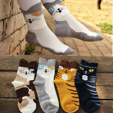 Winter Striped Cotton Socks Cartoon Cat Stocking 3D Animals Ankle High