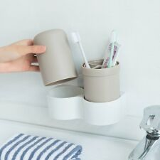 Home Bathroom Suction Toothbrush Wall Mount Stand Holder Sucker Organizer Set