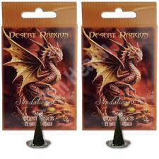2 X DESERT DRAGON SANDALWOOD Incense/Fragrance Cones & Holder Insence/Insense