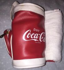 RARE Coke Is It Coca Cola USA Vintage Mini Golf Bag w/ towel, tees & pick NEW