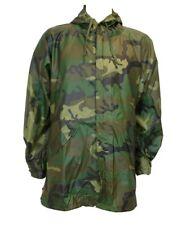 US Military Woodland Camo Wet Weather Parka Size Medium Rain Coat