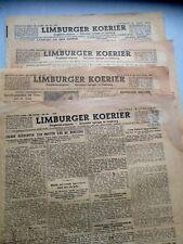LOT OF 4 1944 LIMBURGER KOERIER COURIER NEWSPAPERS - LIMBURG DUTCH NETHERLANDS