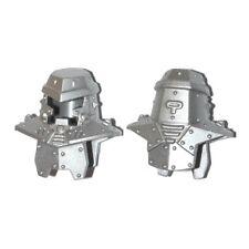 LEGO - Minifig, Headgear Head Armor with Rivets - Metallic Silver - (Tremor)