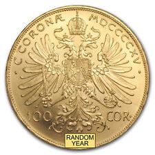 Austria Gold 100 Coronas Brilliant Uncirculated BU (Random Year)
