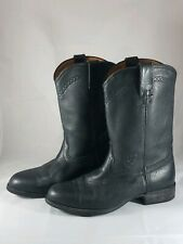 Ariat Heritage Roper Women's Sz 10 Black Leather Western Work Cowboy Rodeo Boots