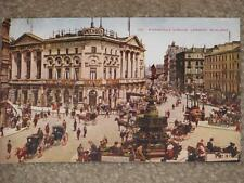 Piccadilly Circus, London, England, unused vintage card