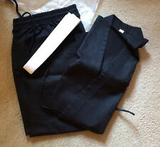 Quality Karate Light Weight Martial Arts Adult Gi Uniform Black+White Belt Sz 2
