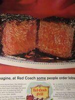 1966 Red Coach Grill STEAK Original Regional Print Ad 8.5 x 11'