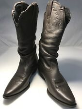Nocona Cowgirl Boots Womens 6B Brown Leather Competitor Slouch EUC