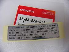 Honda CB 750 Four Aufkleber Kettenschutz  Schwinge mark caution   F - 23