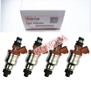 195500-2120 4pcs New Fuel Injectors fits for 1989-1996 Mazda 323 1.3L 1.6L