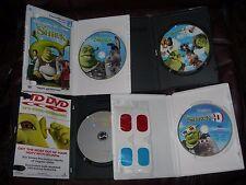 **LOT* 4  Dreamworks Movie DVDs SHREK, SHREK 2, SHREK THE 3RD AND SHREK 3-D
