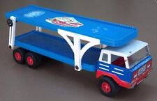 Camion JOUSTRA ancien jouet à clé métal tôle FONCTIONNE old key toy truck