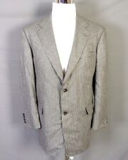 euc HSM Hart Schaffner Marx Gray Houndstooth Wool Silk Blazer Sportcoat sz 44 R