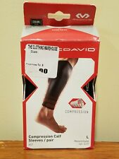 McDavid 6577 Compression Calf Sleeves - Pair - Black - L Large