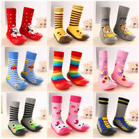 Newborn Anti Slip Baby Cotton Baby Socks With Rubber Soles Infant Socks Shoes LJ
