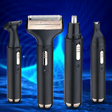 4-in-1 Mens Hair Clipper Set Cordless Electric Nose Beard Trimmer Grooming Set