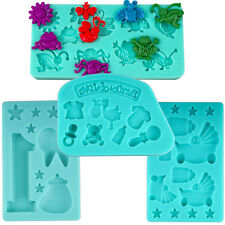 3D Silikonform SET Fondatform Gußform Schokolade Fondant Tortendekoration Kinder
