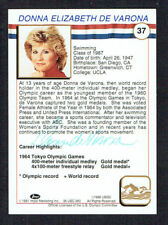 Donna Elizabeth De Varona signed autograph 1991 Impel Olympic Hall of Fame Card