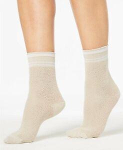 HUE Womens Sporty Mesh Socks Sandbar Color One Size - NWT