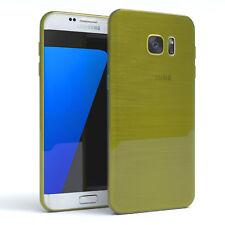 Schutz Hülle für Samsung Galaxy S7 Edge Brushed Cover Handy Case Grün