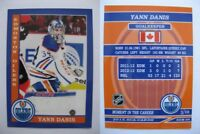 2015 SCA Yann Danis Edmonton Oilers goalie never issued produced #d/10