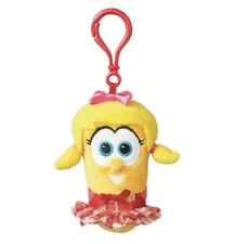 "Veggie Tales Laura Carrot 3.5"" Plush Backpack Clip #4058627"