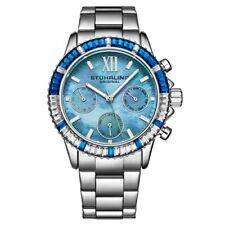 Stuhrling 3959 3 Quartz Chronograph Blue Mother of Pearl Bracelet Womens Watch