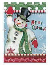 Lang Co. - Merry Snowman mini garden flag - #Lg-Gf-007