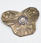 Antique Masonic Shriners Enamel Medal Badge Pin Ziyars Temple Utica NY