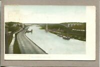 Postcard NY The Speedway River Bridge Highway Boats c1910 -507