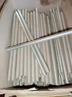 10 Stück Gewindestangen 6x125 verzinkt Stehbolzen M 6 x 125 mm